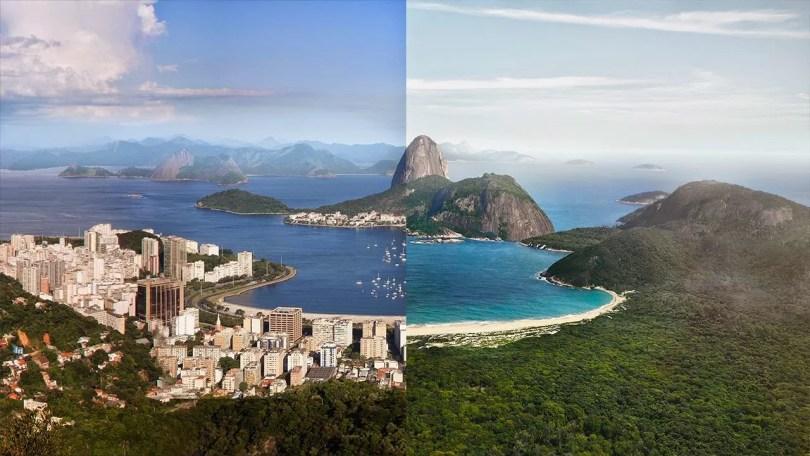 rio 1800 - Como seria a paisagem Rio de Janeiro antes da chegada dos portugueses?