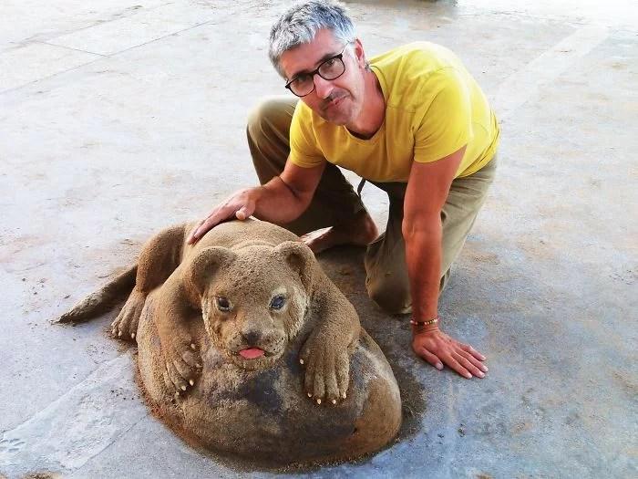 melhor escultor de areia do mundo sand art bull andoni 32 - As impressionantes esculturas realistas de areia de Andoni Bastarrika