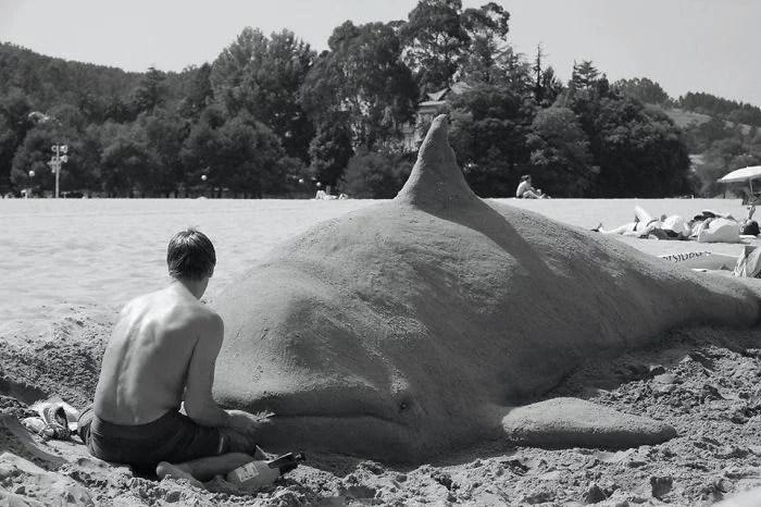 melhor escultor de areia do mundo sand art bull andoni 38 - As impressionantes esculturas realistas de areia de Andoni Bastarrika