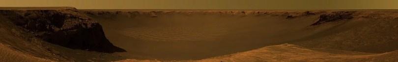 Victoria Crater Cape Verde Mars - Vídeo magnifico feito com fotos do Planeta Marte renderizadas em 4K