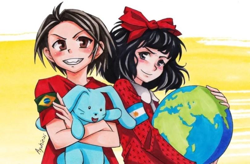 monica e mafalda retocado - Em 2014 Mônica conhecia Mafalda pela primeira vez