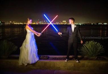 Tema Star Wars - Casal teve um casamento com o tema Star Wars
