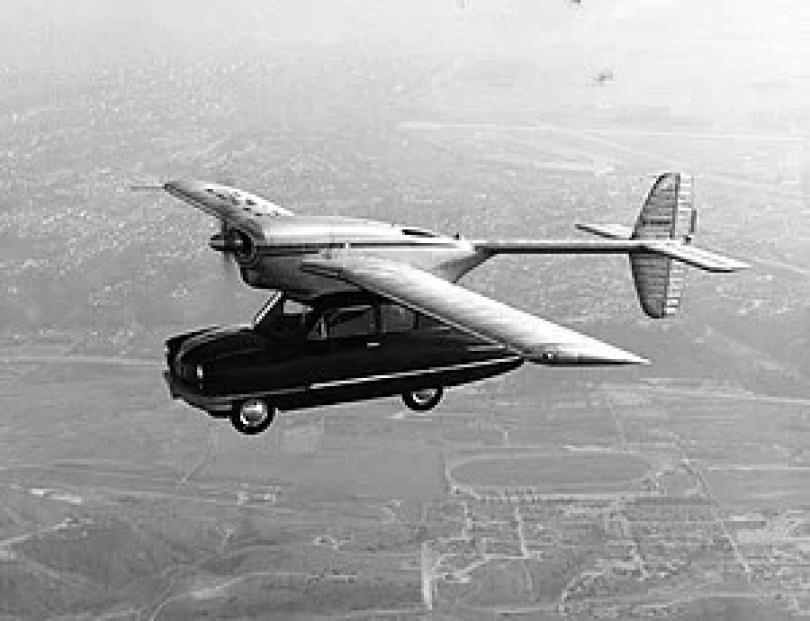 carro voador ConvairCar Model 118 1947 - Carros Voadores já existiram em 1947