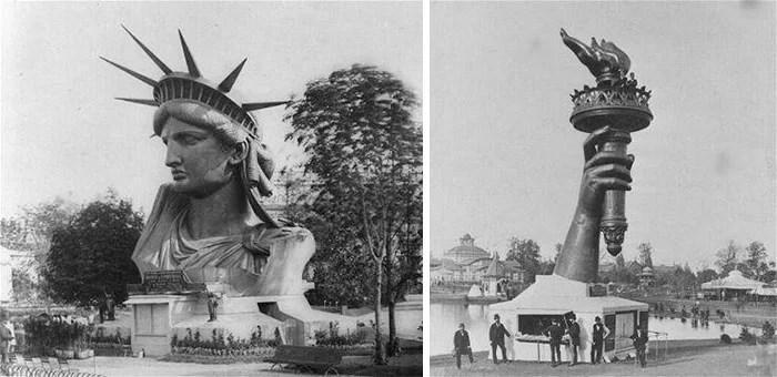 estatua da liberdade na franca antes de ser entregue