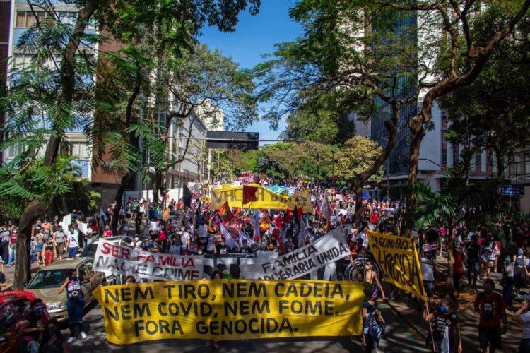 Ato Fora Bolsonaro em Belo Horizonte. Foto: Caio Couto / Mídia NINJA