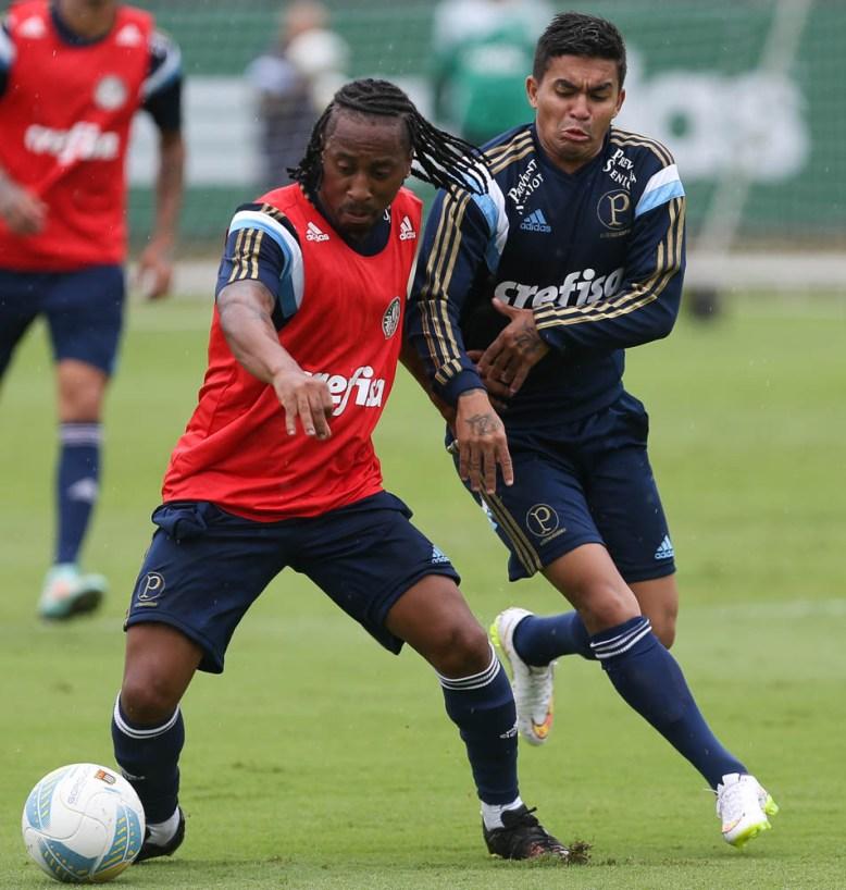 Arouca treina hoje e deve estrear no fim de semana!. Créditos: Cesar Greco/Ag Palmeiras/Divulgação