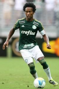 Zé Roberto novamente joga bem e faz seu primeiro gol com o manto alviverde.( Cesar Greco/Ag.Palmeiras/Divulgação )
