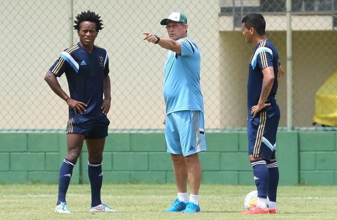 Técnico Oswaldo de Oliveira com Zé Roberto e Dudu.