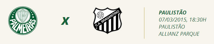 Palmeiras x Bragantino - Sábado, 7 de março, às 18h30 no Allianz Parque