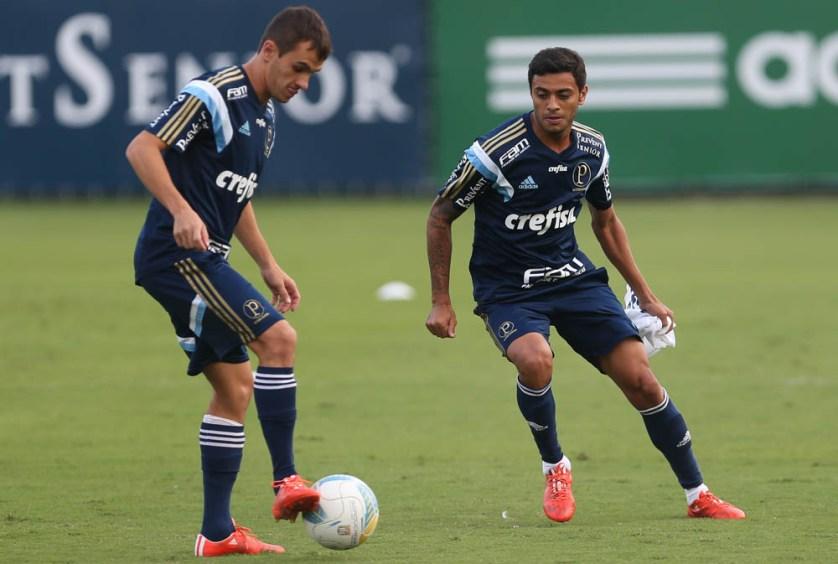 """""""O mais importante é estrear, o que mais quero é poder jogar. Em fase de decisão, então, melhor ainda."""" (Cesar Greco/Ag. Palmeiras/Divulgação)"""