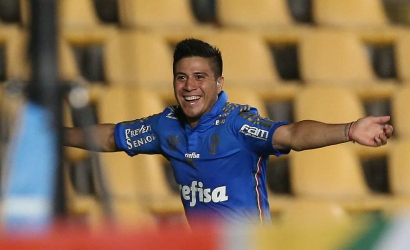 Cristaldo é o artilheiro do Verdão na competição, com 3 gols marcados. (Cesar Greco/Ag. Palmeiras/Divulgação)
