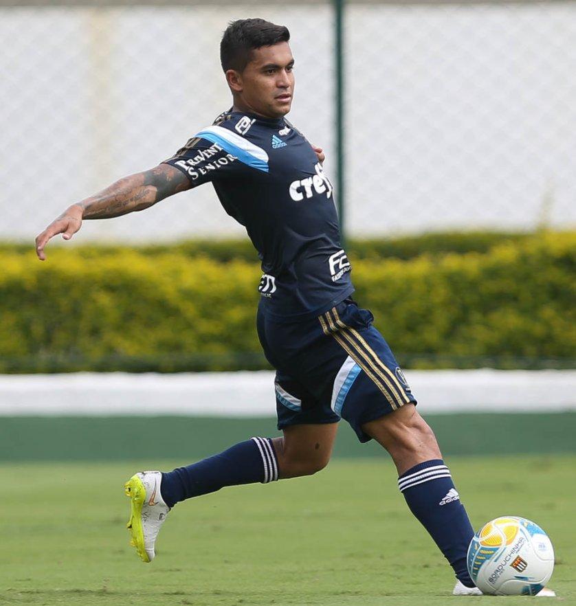 Dudu durante treino do Palmeiras (Cesar Greco/Ag Palmeiras/Divulgação)