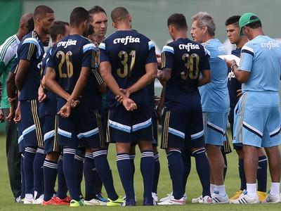Oswaldo de Oliveira cobra equilíbrio do grupo. (Cesar Greco/Ag Palmeiras/Divulgação)