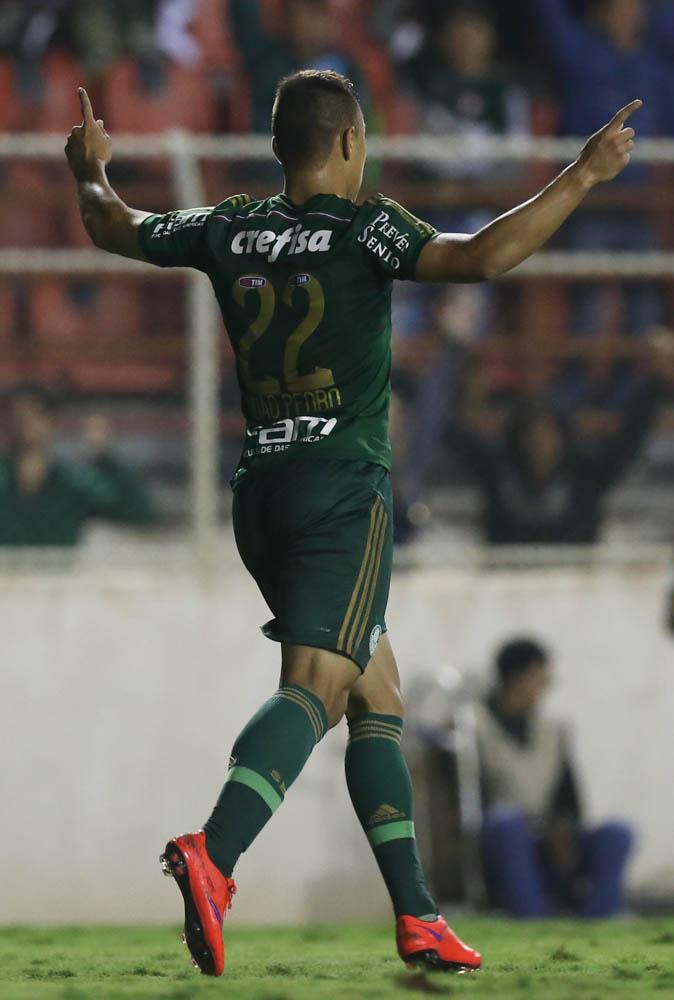 João Pedro marcou o gol de empate perto do fim da partida. (Cesar Greco/Ag. Palmeiras/Divulgação)