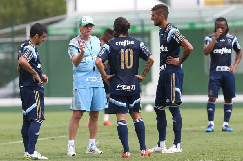 Oswaldo tem apostado na mesma base e em um só esquema tático desde o início do torneio, de maneira a facilitar o jogo. (Cesar Greco/Ag. Palmeiras/Divulgação)