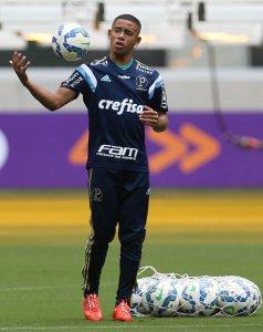 Gabriel Jesus deve ser titular neste sábado (08), contra o Atlético-MG. (Cesar Greco/Ag. Palmeiras/Divulgação)