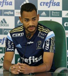 Jackson concedeu entrevista coletiva na Academia de Futebol nesta quinta (23) A. (Cesar Greco/Ag. Palmeiras/Divulgação)