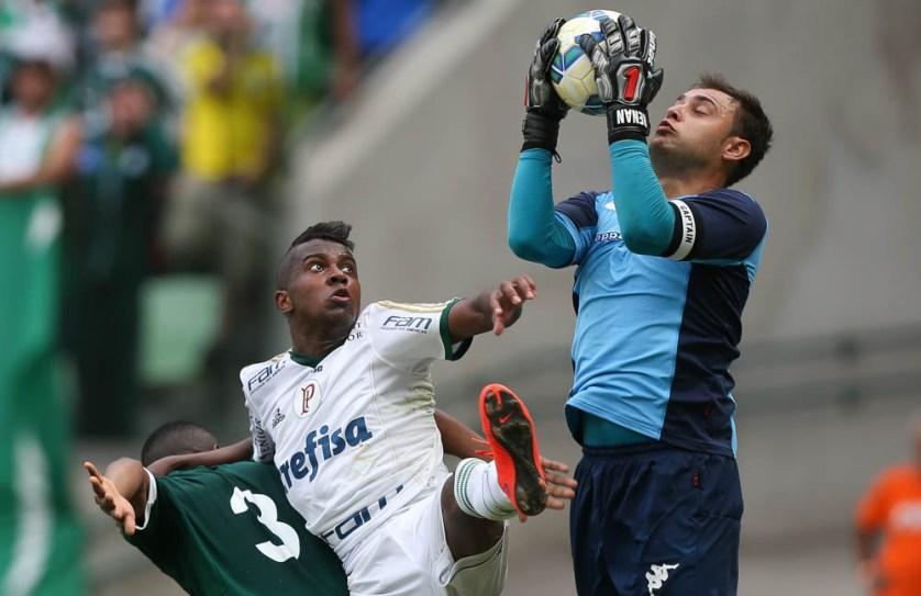 Com os desfalques de Dudu e Rafael Marques, Kelvin jogou e foi um dos destaques da partida. (Cesar Greco/Ag. Palmeiras/Divulgação)