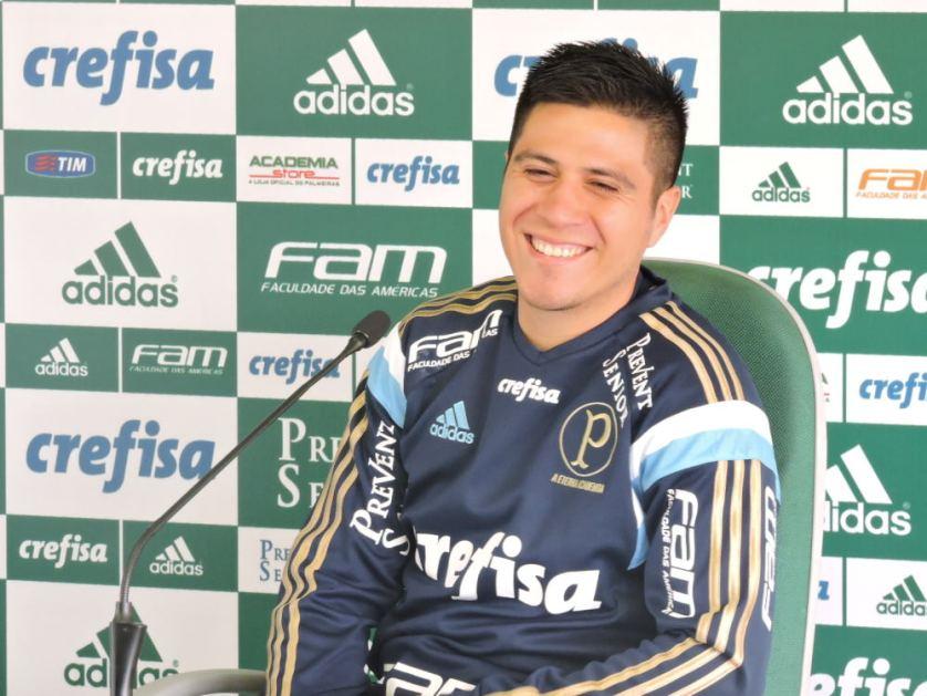 Cristaldo anotou o gol derradeiro na vitória contra o Fluminense. (Mídia Palmeirense)