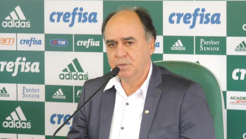 Marcelo Oliveira foi apresentado na Academia de Futebol nesta terça, 16. (Mídia Palmeirense)