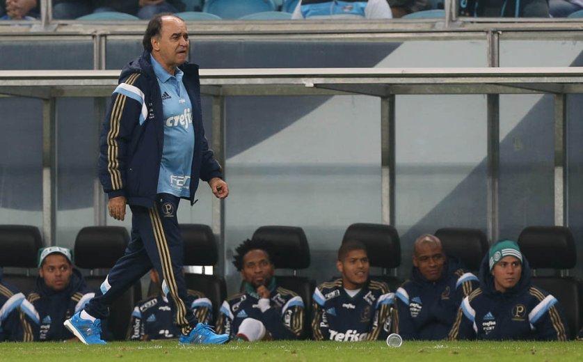 O técnico Marcelo Oliveira projeta uma evolução da equipe nos próximos jogos. (Cesar Greco/Ag. Palmeiras/Divulgação)