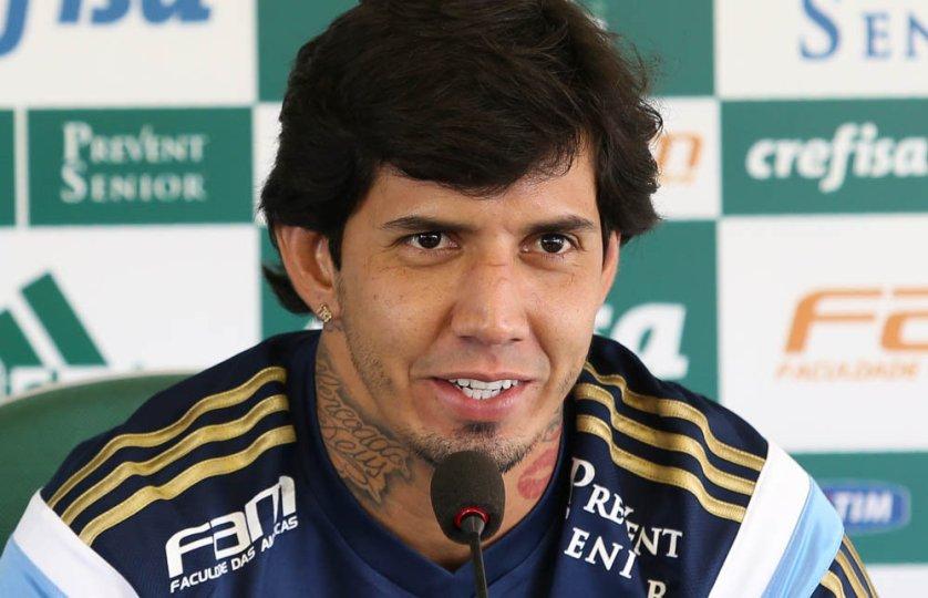 Victor Ramos foi o autor do segundo gol no clássico deste domingo (28). (Cesar Greco/Ag. Palmeiras/Divulgação)