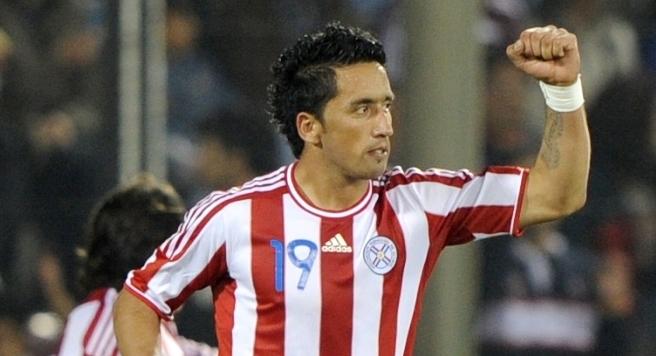 Lucas Barrios não vê a hora de defender o Palmeiras.