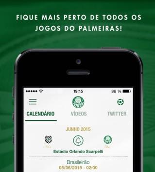 Aplicativo oficial do Palmeiras para celulares. Divulgação)