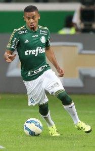 Gabriel Jesus marcou seu primeiro gol no time profissional do Verdão. (Cesar Greco/Ag.Palmeiras/Divulgação)