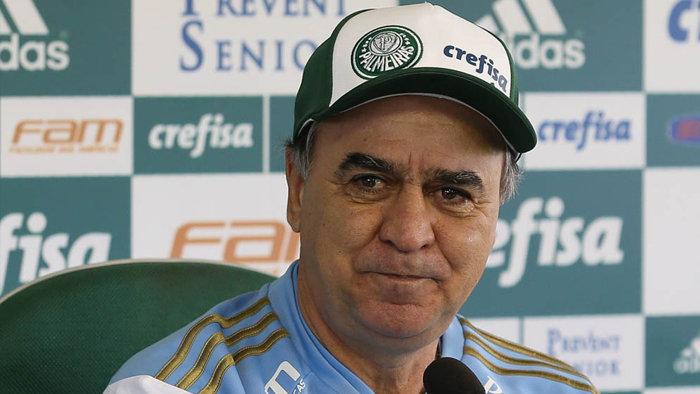 O técnico Marcelo Oliveira concedeu entrevista coletiva na Academia de Futebol na manhã de hoje (31). (Cesar Greco/Ag. Palmeiras/Divulgação)