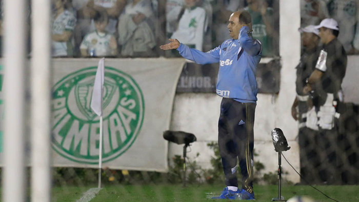 'Nós estamos no G-4 e pretendemos continuar lá', disse Marcelo Oliveira em entrevista coletiva após o jogo contra o Vasco. (Cesar Greco/Ag. Palmeiras/Divulgação)