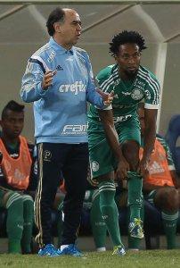Marcelo Oliveira elogiou a atuação, mas cobrou mais regularidade. (Cesar Greco/Ag. Palmeiras/Divulgação)