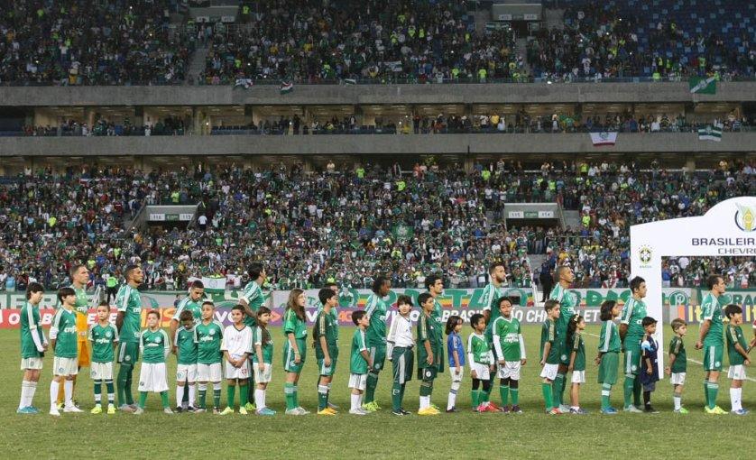 Torcida mato-grossense fez o Palmeiras se sentir em casa. (Cesar Greco/Ag. Palmeiras/Divulgação)