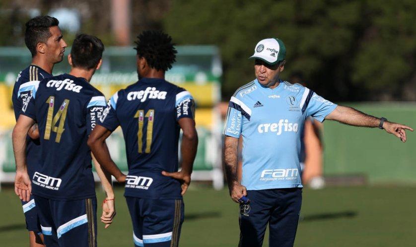 O Verdão realizou um treino tático neste sábado (15). (Cesar Greco/Ag. Palmeiras/Divulgação)