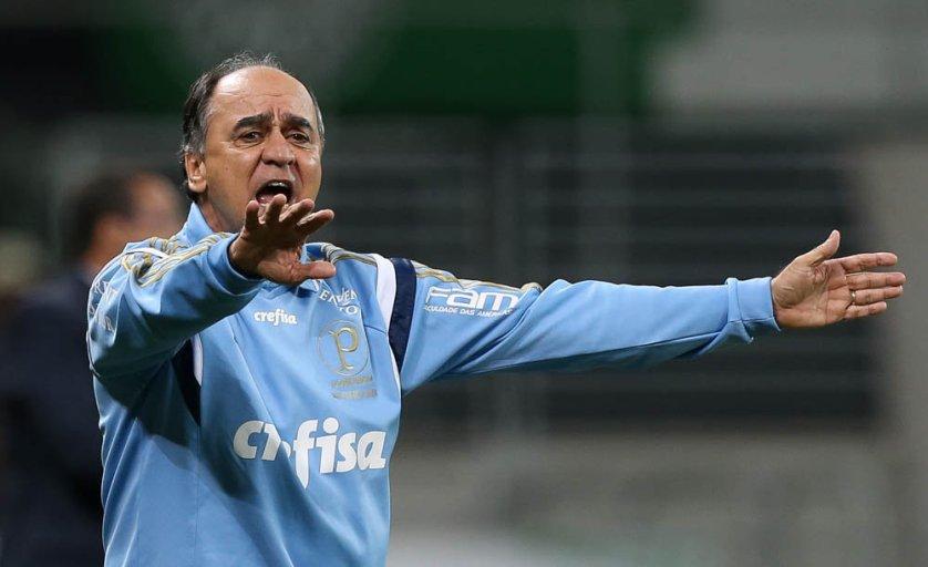 Marcelo Oliveira poupou jogadores e viu Verdão bater Avaí com tranquilidade neste sábado (17). (Cesar Greco/Ag.Palmeiras/Divulgação)