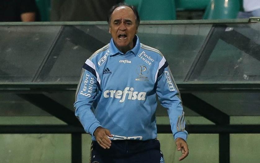 Marcelo Oliveira conheceu seu quarto revés no comando do Verdão. (Cesar Greco/Ag. Palmeiras/Divulgação)