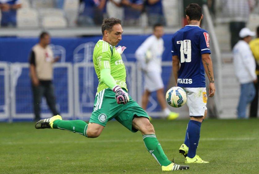 Prass defendeu penalti, mas não evitou do revés do Palmeiras em BH. (Cesar Greco/Ag. Palmeiras/Divulgação)