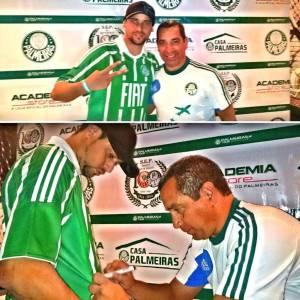 Zinho esteve presente na Casa Palmeiras da cidade de Jundiaí. (@fulviok9/Instagram/Reprodução)