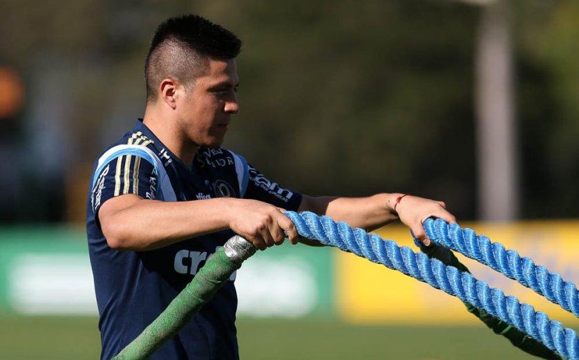 Cristaldo tem chance de ser relacionado para a viagem para Goiânia. (Cesar Greco/Ag.Palmeiras/Divulgação)