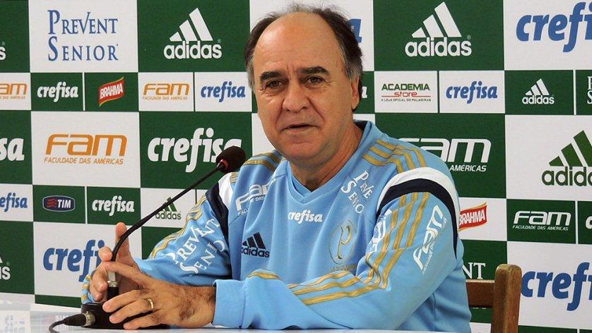 Marcelo Oliveira concedeu entrevista coletiva na tarde desta sexta-feira (2). (Mídia Palmeirense)
