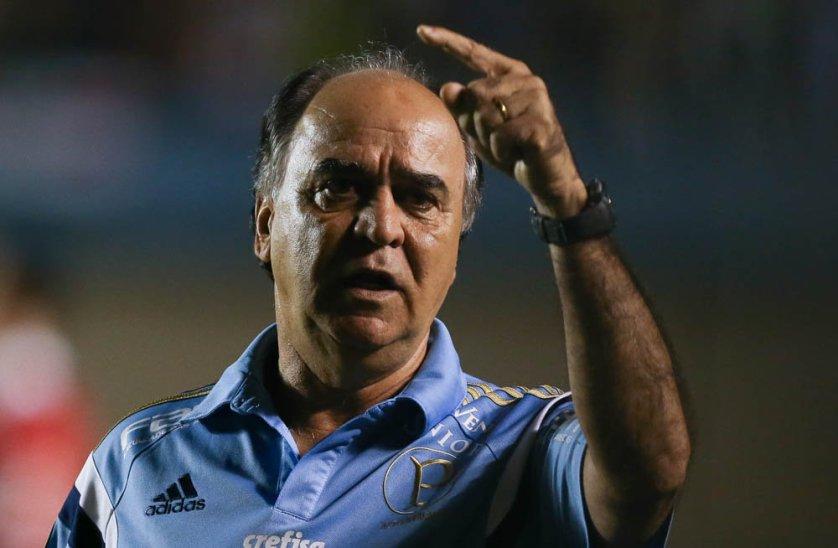 Após o jogo, Marcelo Oliveira cedeu entrevista coletiva e comentou atuação da equipe. (Cesar Greco/Ag.Palmeiras/Divulgação)
