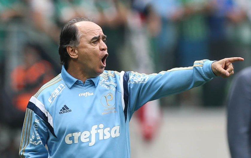 Marcelo Oliveira conheceu seu segundo empate desde que assumiu o Verdão. (Cesar Greco/Ag.Palmeiras/Divulgação)