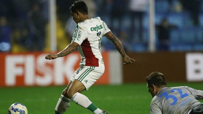 Dudu entrou no segundo tempo e marcou o terceiro do Verdão. (Cesar Greco/Ag. Palmeiras/Divulgação)
