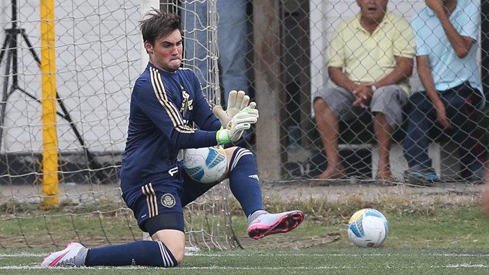 Um dos destaques do time Sub-20, goleiro Daniel Fuzato foi convocado para a Seleção (Fabio Menotti/Ag.Palmeiras/Divulgação)