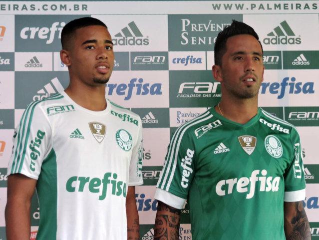 Os atacantes Lucas Barrios e Gabriel Jesus foram pré-convocados para a Copa América Centenário. (Mídia Palmeirense)