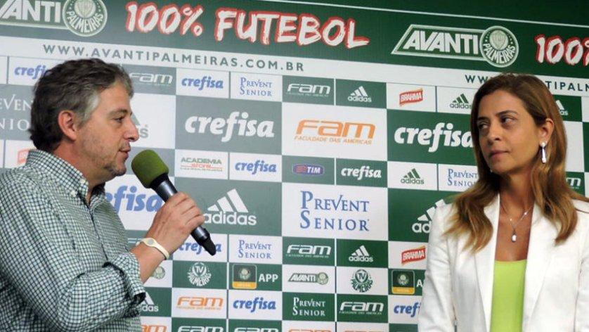 Paulo Nobre e a presidente da Crefisa, Leila Pereira, anunciaram novo acordo nesta sexta-feira (29). (Mídia Palmeirense)