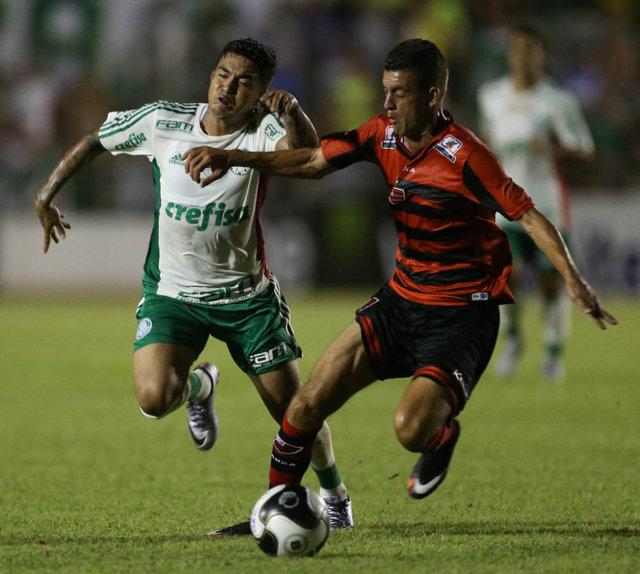 Para Dudu, faltou ao Verdão mais capricho na finalização de jogadas. (Cesar Greco/Ag. Palmeiras/Divulgação)