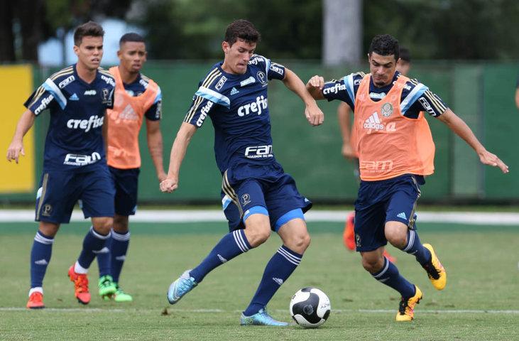 Palmeiras fez treino tático nesta terça-feira (23), na Academia de Futebol. (Cesar Greco/Ag.Palmeiras/Divulgação)