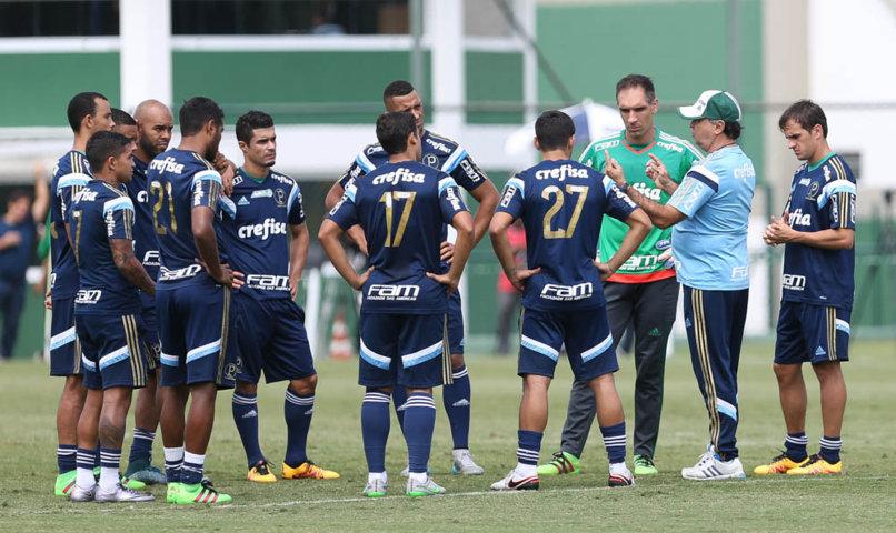 Marcelo Oliveira deve fazer alterações no time titular para enfrentar o XV de Piracicaba. (Cesar Greco/Ag.Palmeiras/Divulgação)