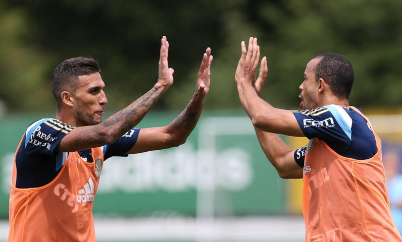Rafael Marques marcou um golaço na manhã desta sexta (05). (Cesar Greco/Ag. Palmeiras/Divulgação)